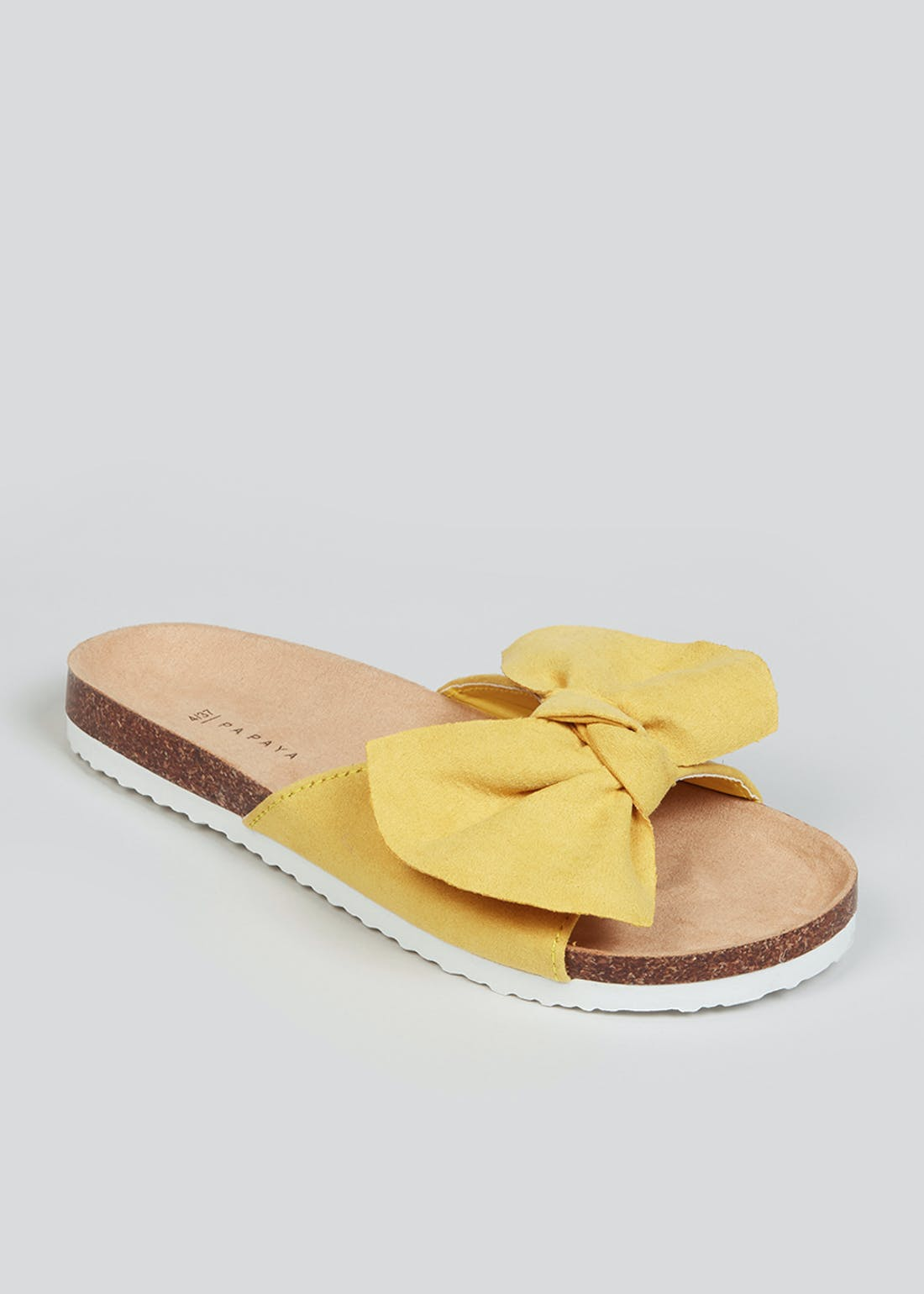 Yellow Bow Footbed Sandals