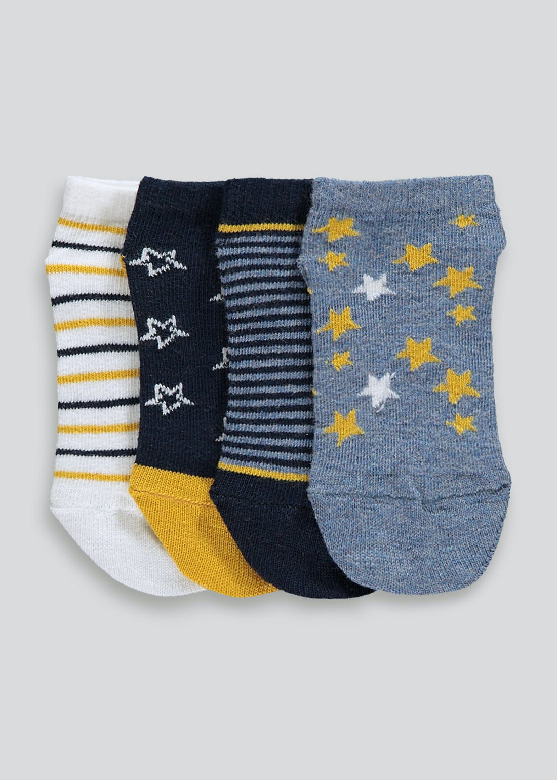 Unisex 4 Pack Trainer Socks (Newborn-8.5)