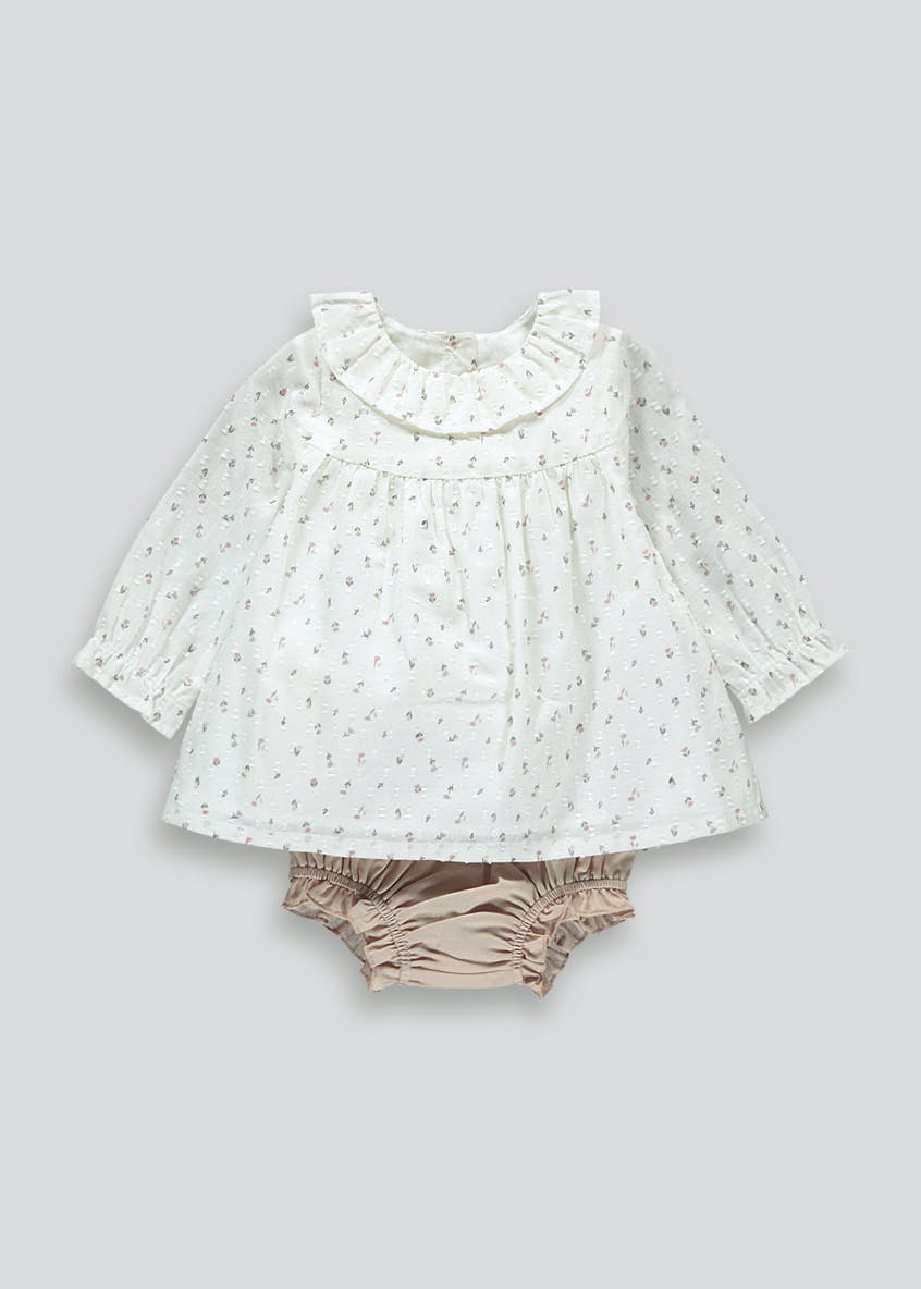 Girls Blouse & Knickers Set (Tiny Baby-23mths)