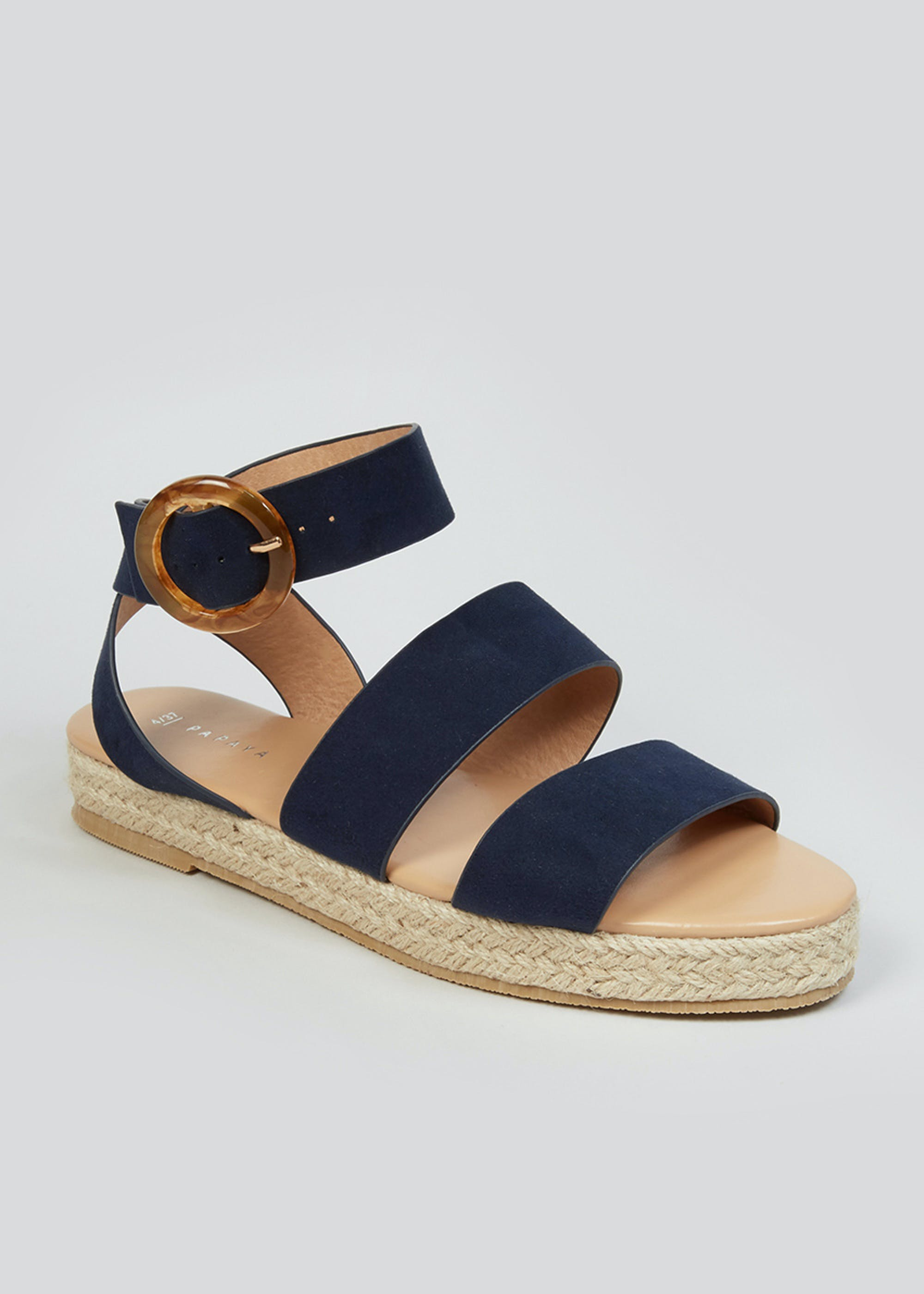 Navy Espadrille Gladiator Sandals Navy IKF1H6