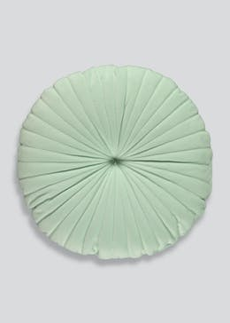 Round Pleated Velvet Cushion (40cm)