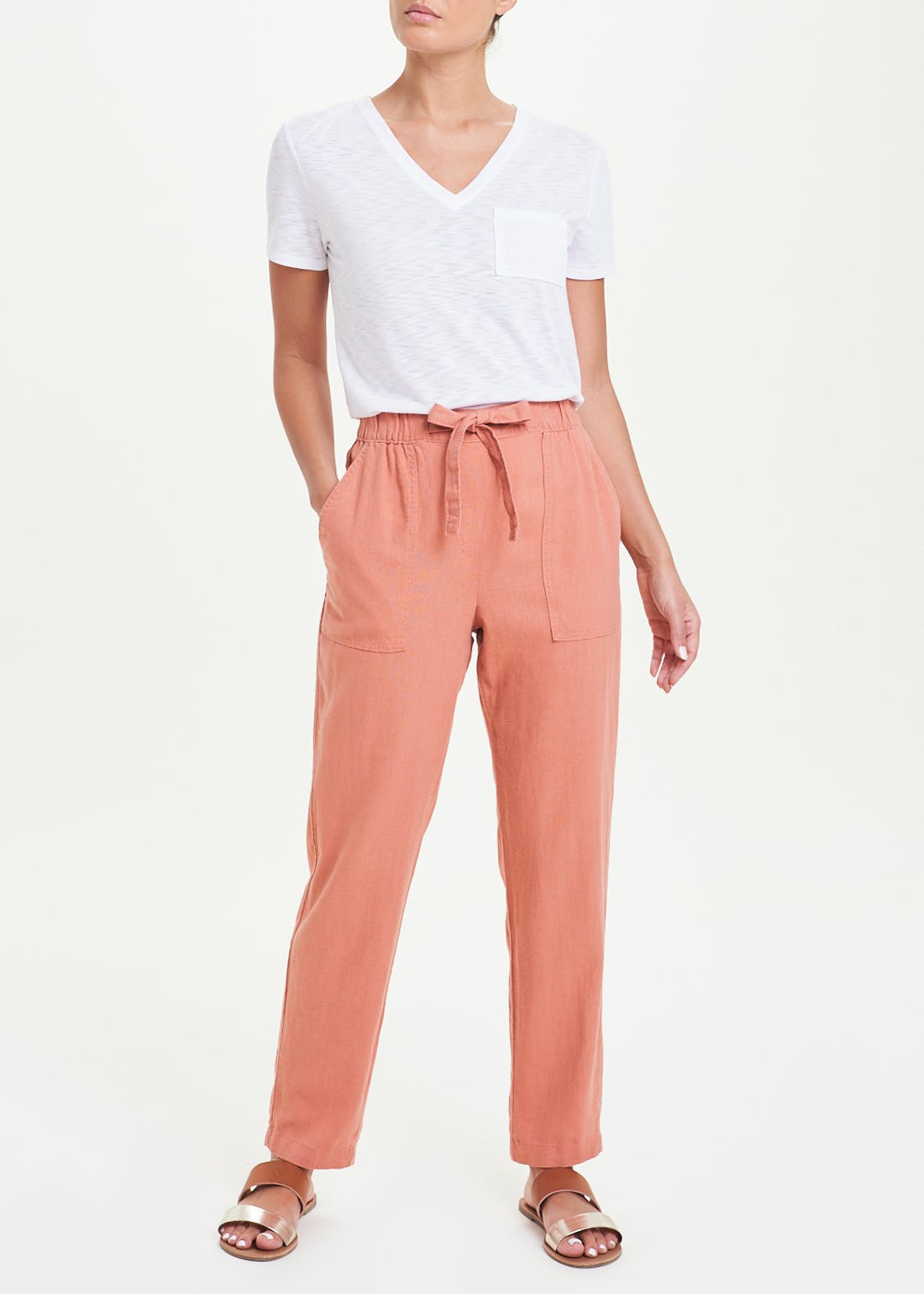 Tapered Linen Trousers