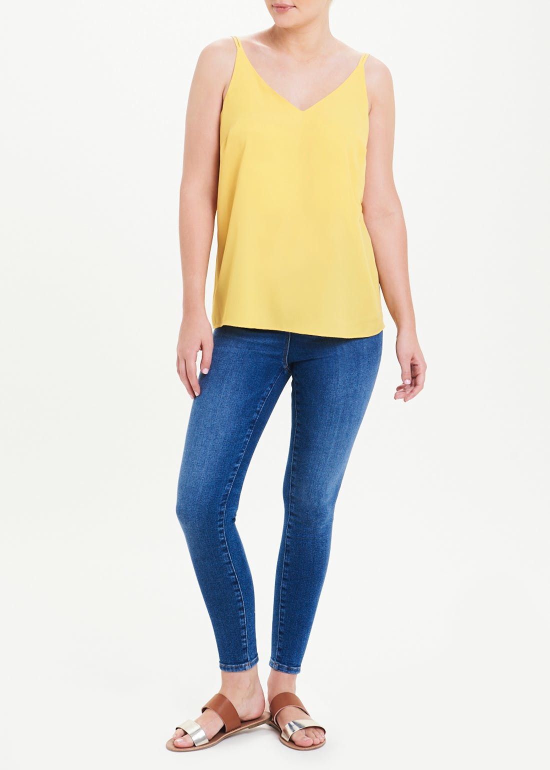 Mustard Double Strap Cami Top