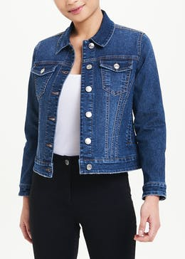 Papaya Petite Dark Wash Denim Jacket