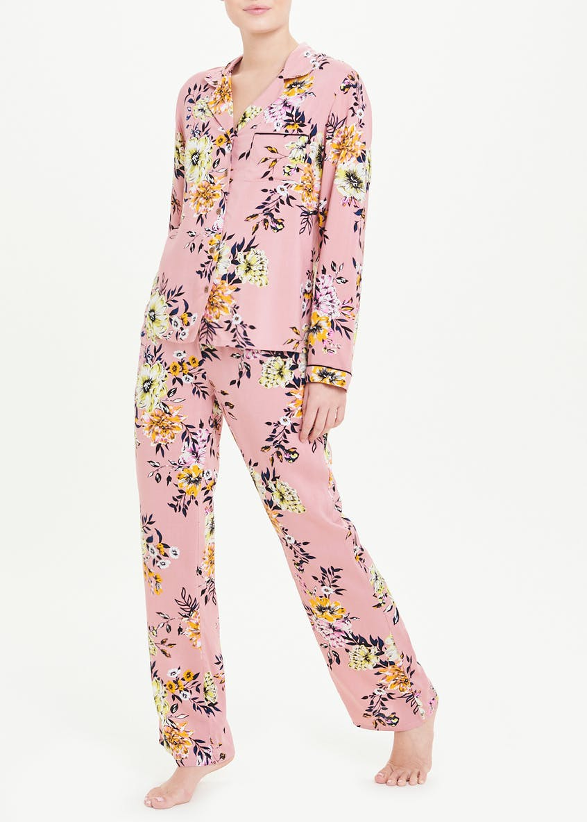 Floral Traditional PJ Set