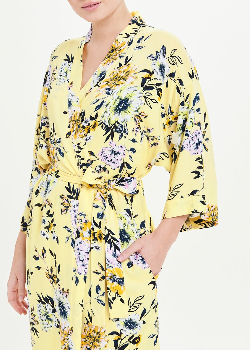 Floral Print Robe Dressing Gown