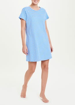Stripe Let's Sleep In Slogan Nightie