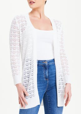 Papaya Petite Pointelle Cardigan
