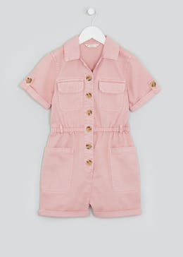 Girls Candy Couture Denim Utility Playsuit (9-16yrs)