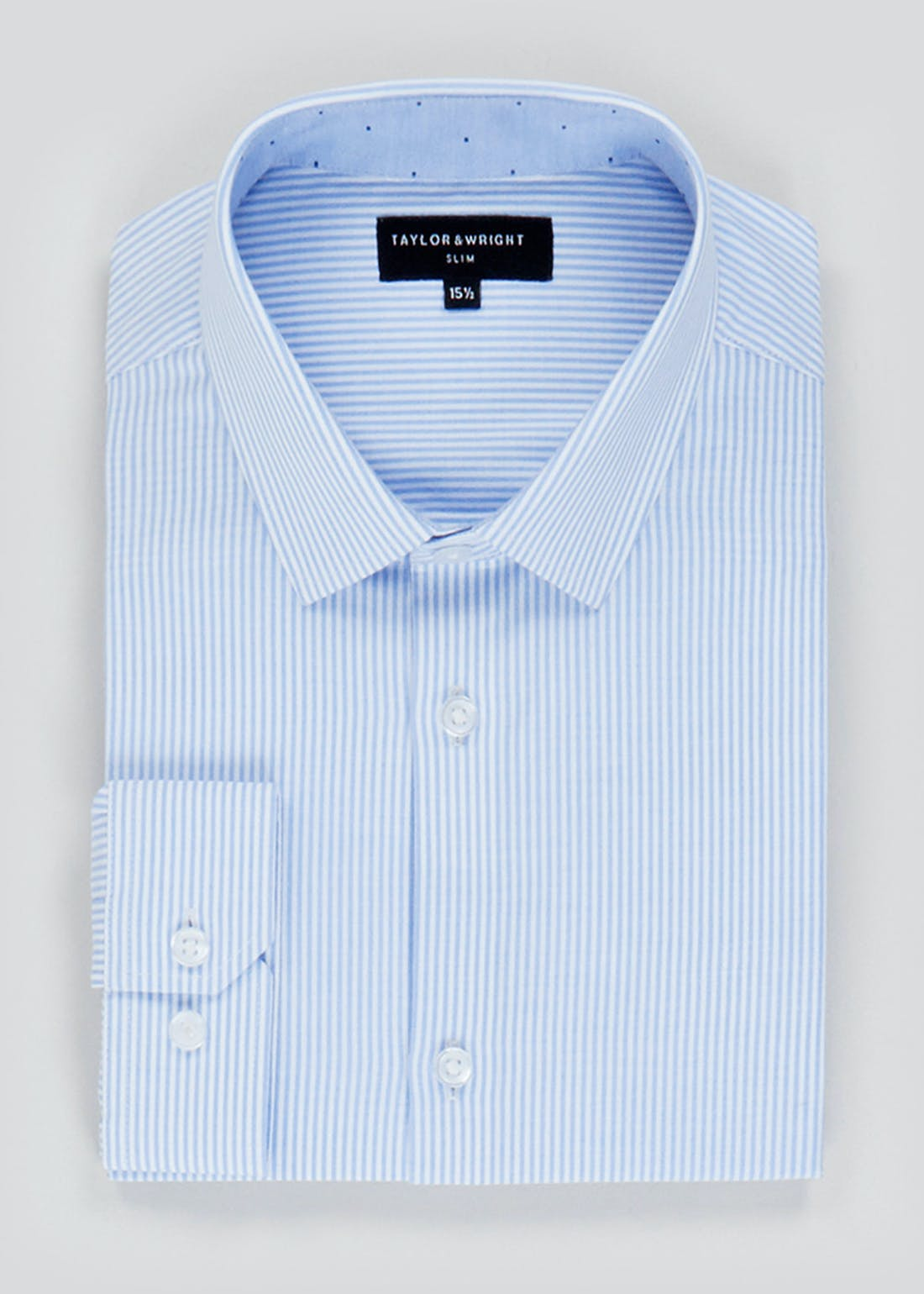 Taylor & Wright Long Sleeve Slim Fit Stripe Shirt