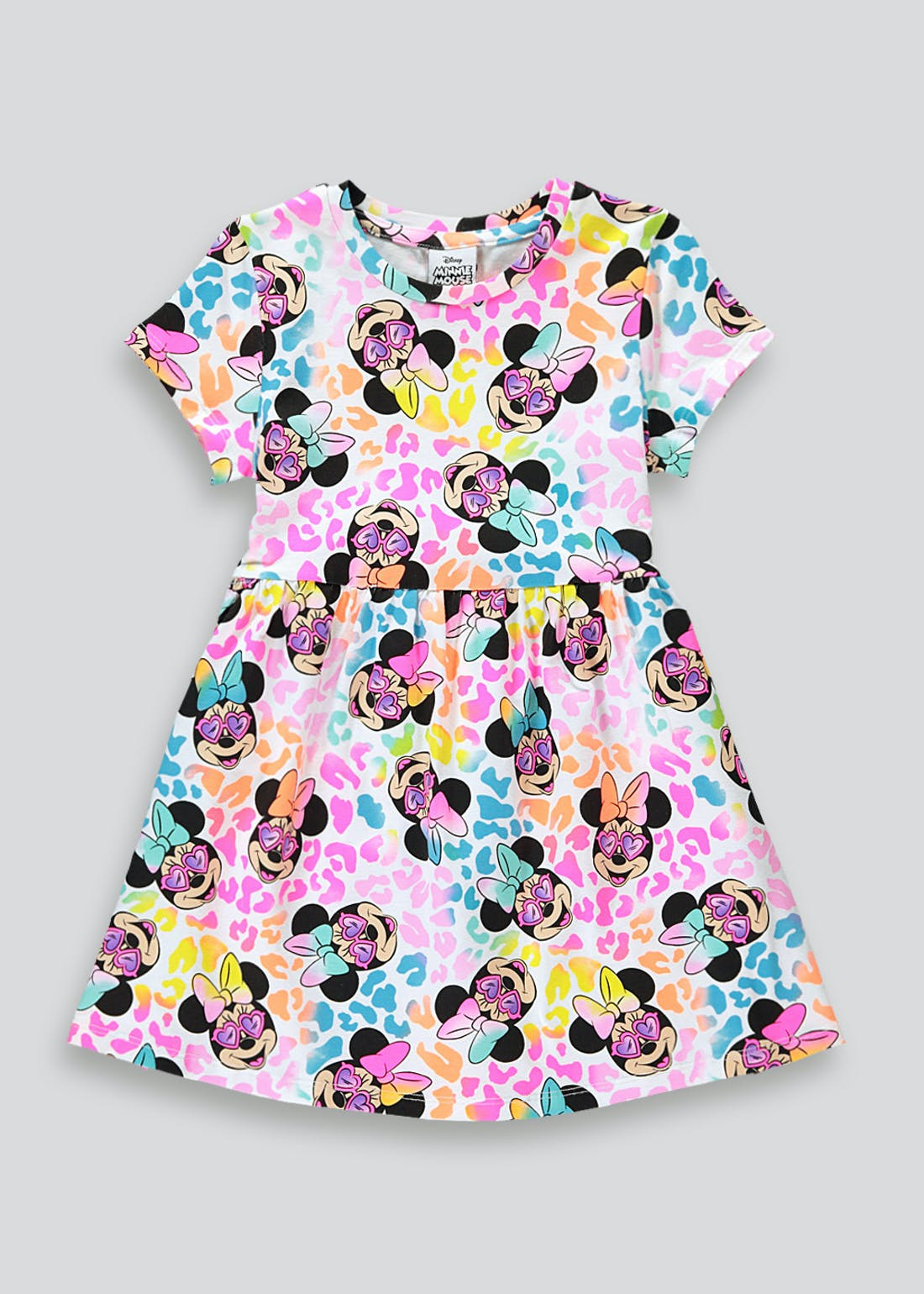 Girls Disney Short Sleeve Minnie Mouse Dress (9mths-6yrs)