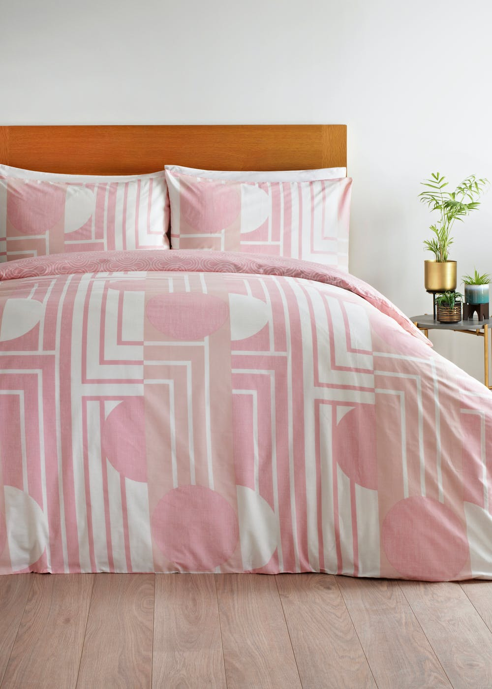 Reversible Retro Geometric Duvet Cover