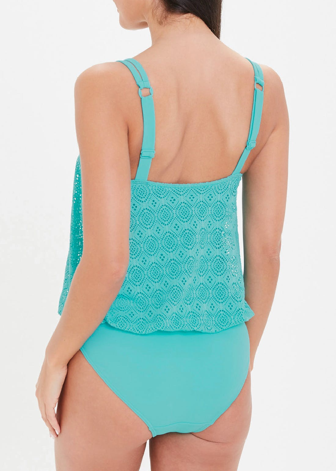 Lace Overlay Swimsuit