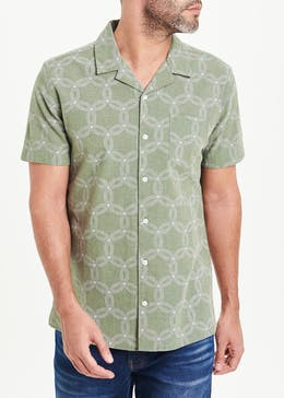 Morley Short Sleeve Geo Print Shirt