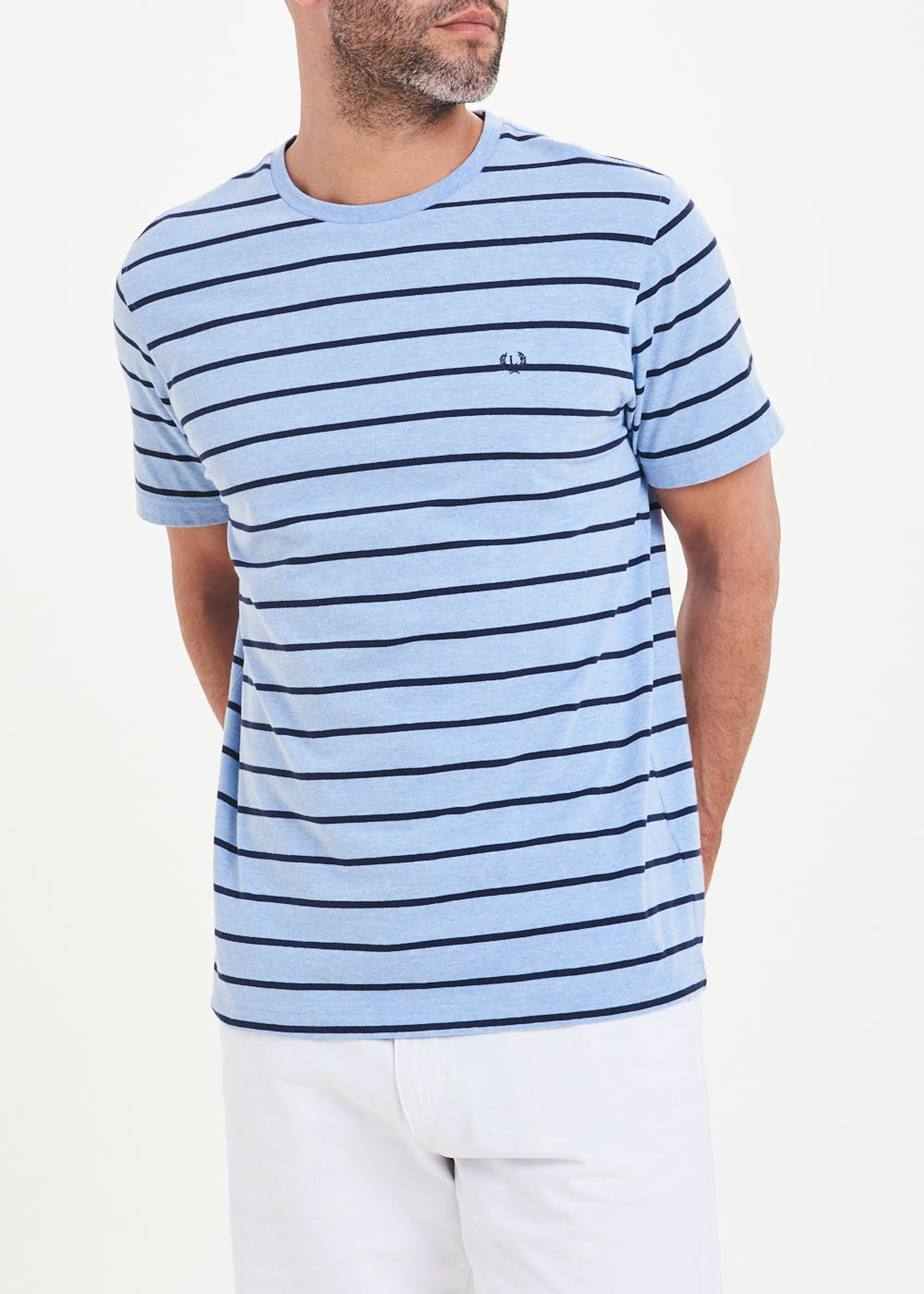 Lincoln Stripe T-Shirt Blue xktjqF