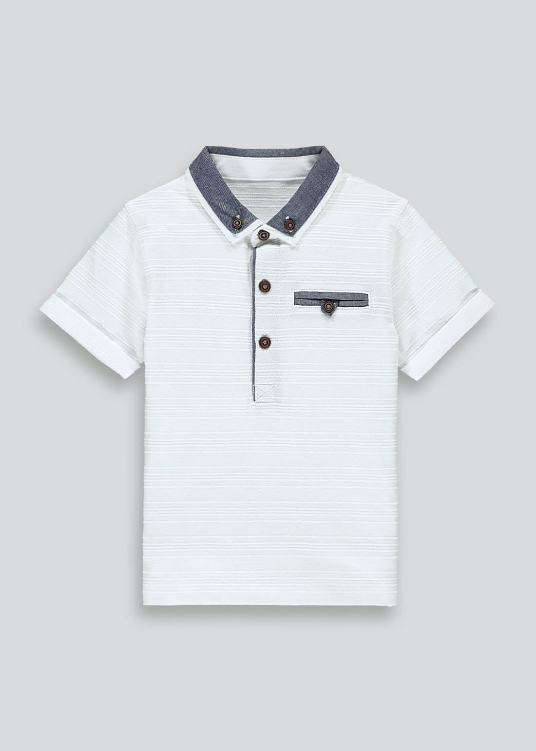 Boys Smart Short Sleeve Polo Shirt (9mths-6yrs)