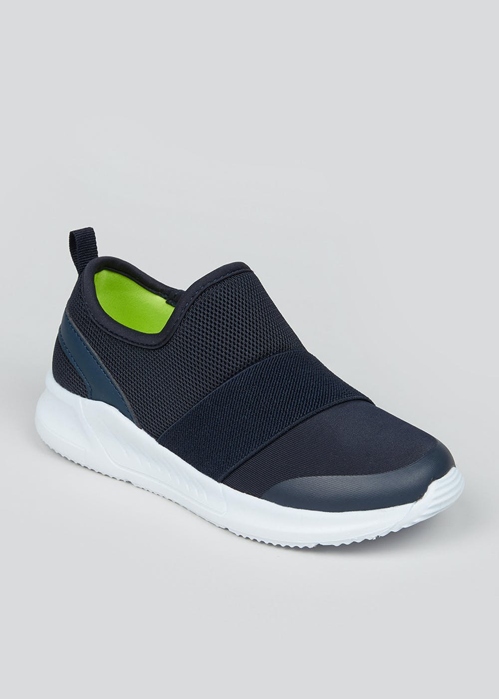 Boys Navy Slip On Trainers (Younger 10