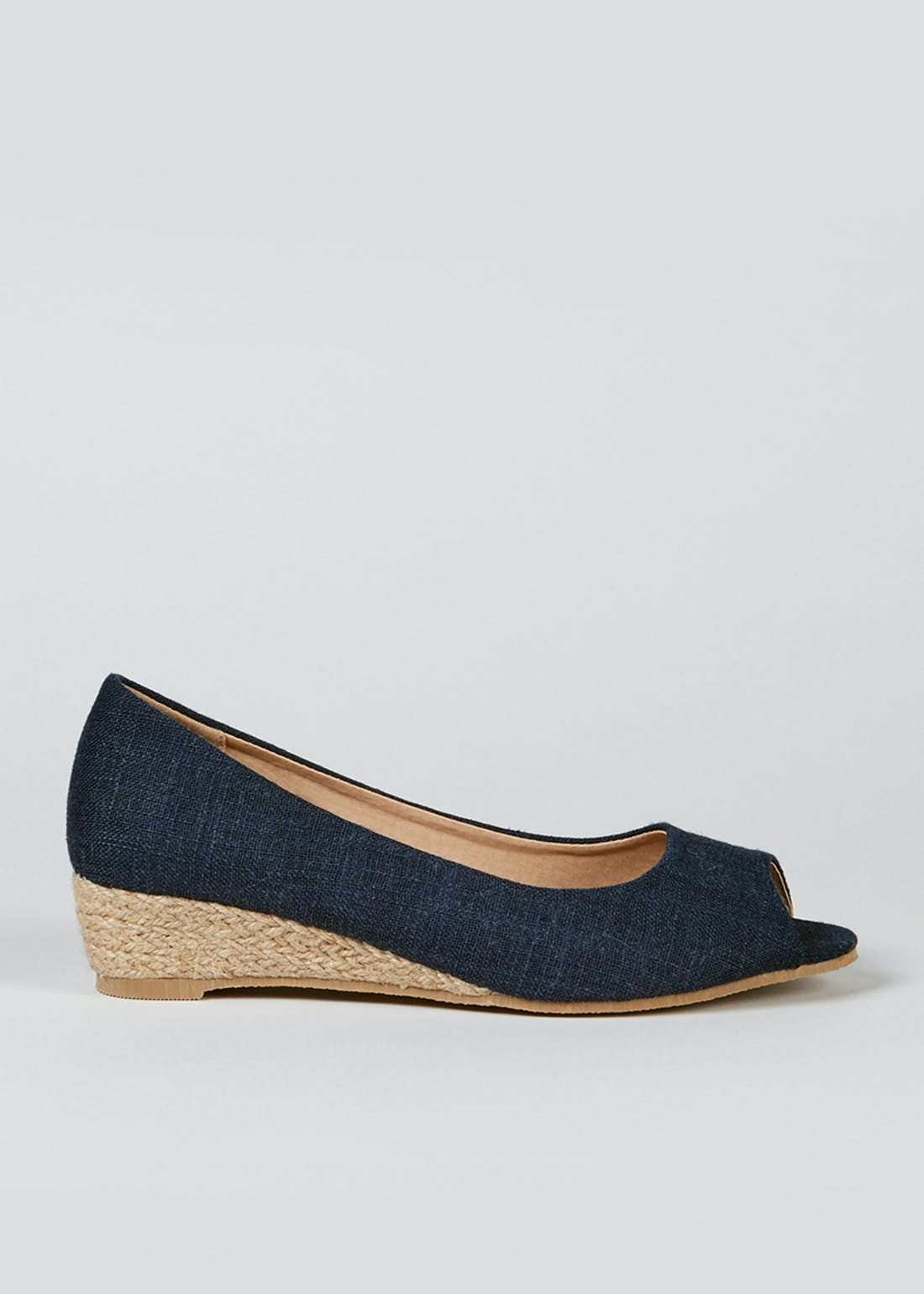 Peep Toe Wedge Espadrilles