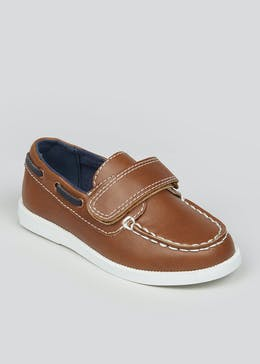 Boys Tan Boat Shoes (Younger 4-12)