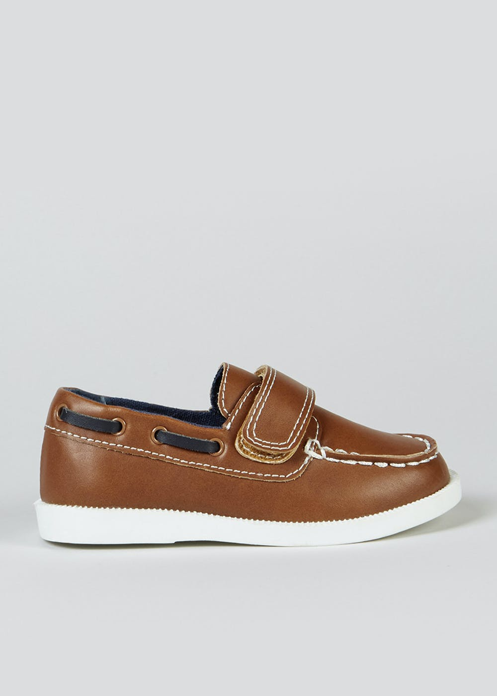 Boys Tan Boat Shoes (Younger 4-12