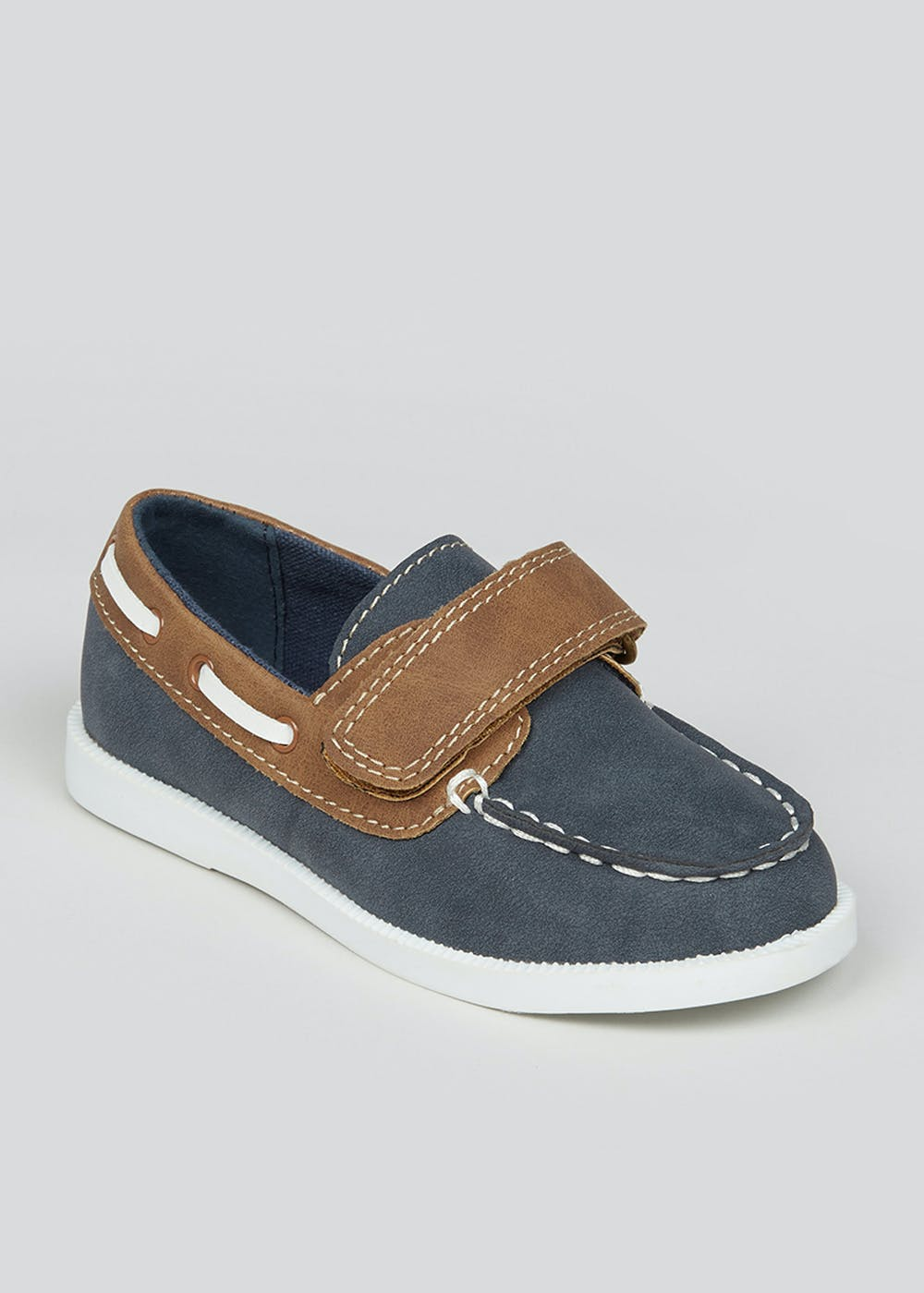 Boys Navy Boat Shoes (Younger 4-12