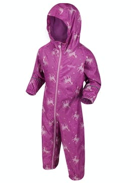 Kids Regatta Pink Unicorn Puddle Suit (12mths-5yrs)