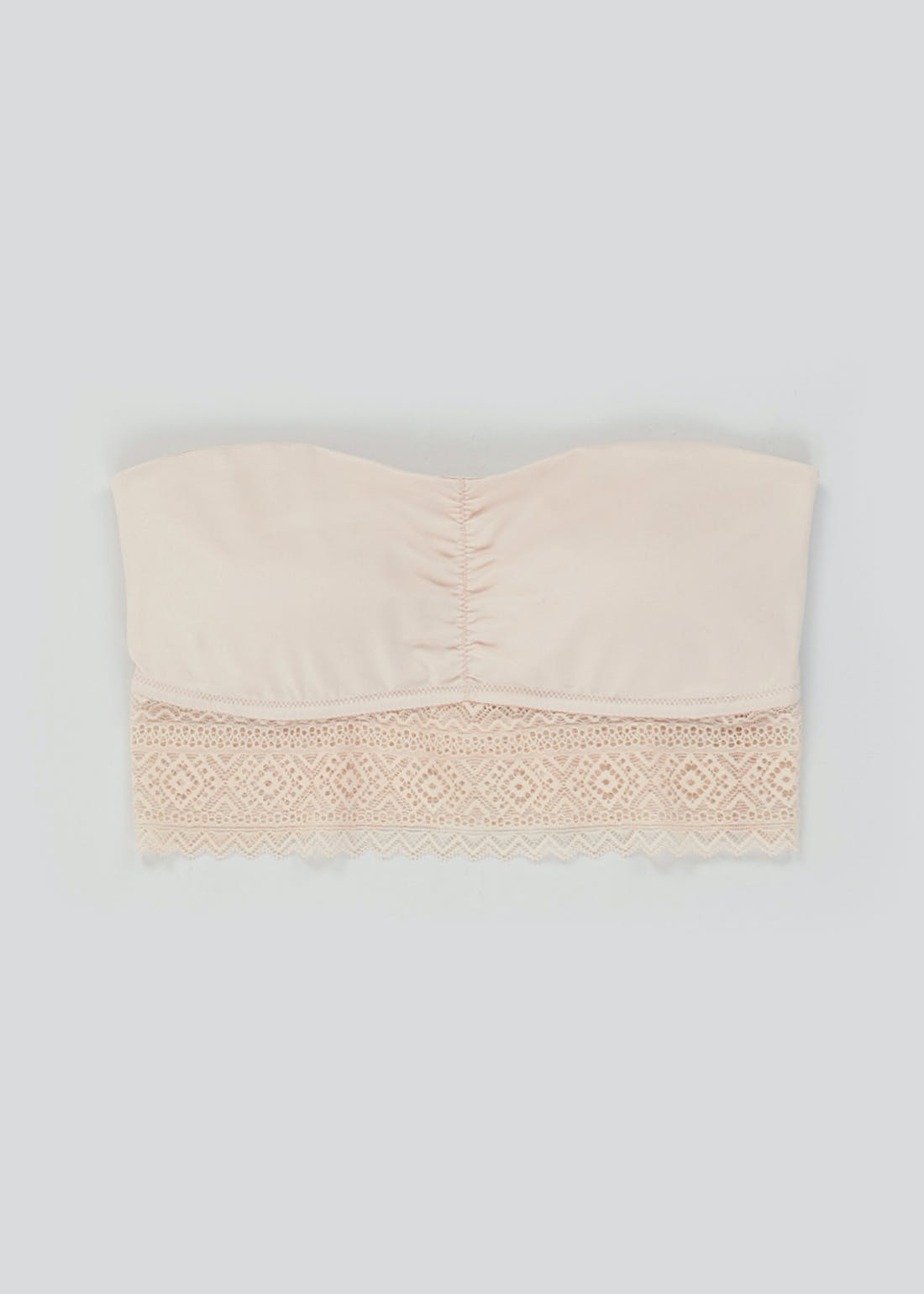 Geo Lace Strapless Bandeau Bra