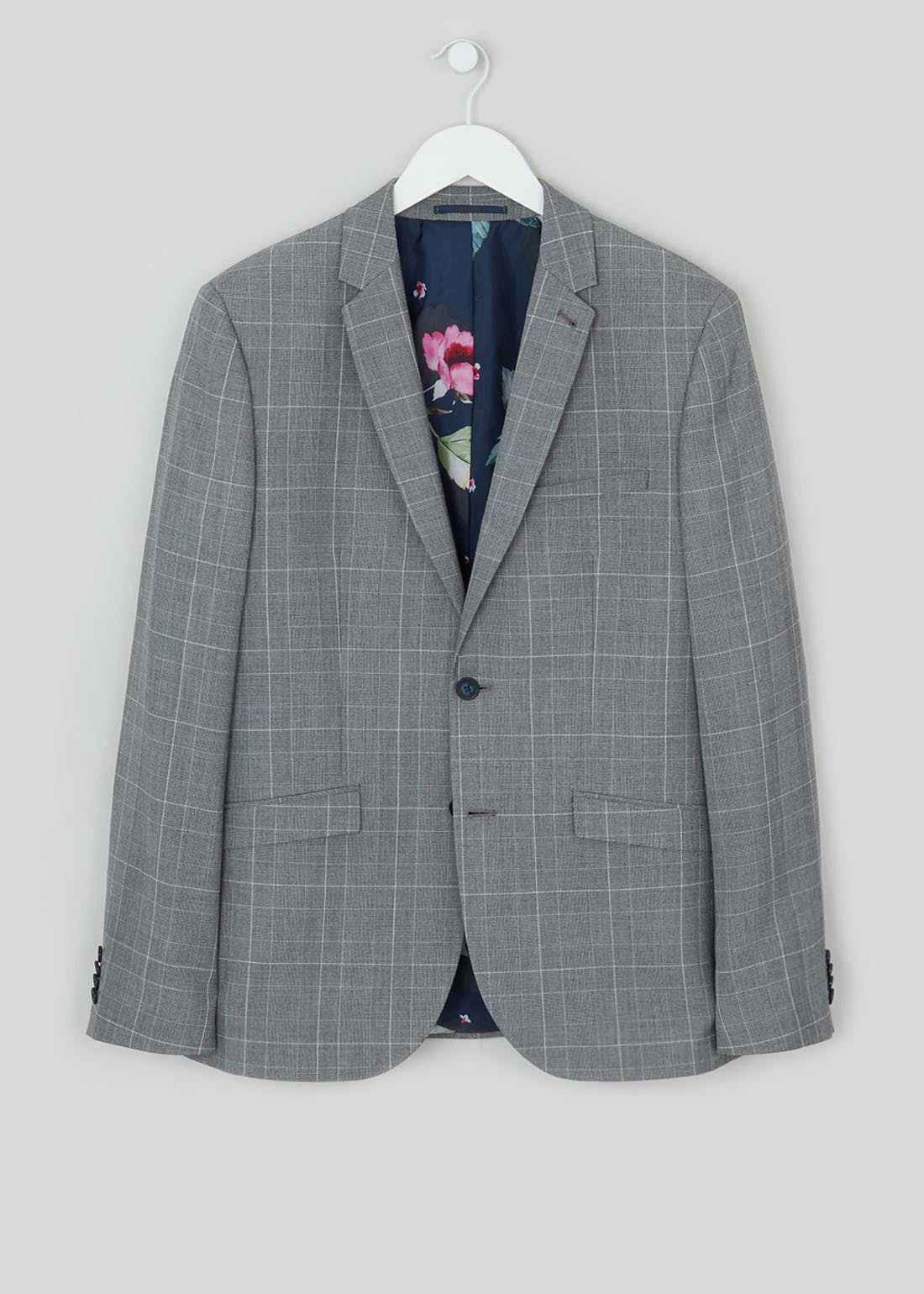 Taylor & Wright Glover Slim Fit Check Suit Jacket
