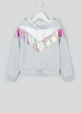 Girls Metallic Stripe Hoodie (4-13yrs)