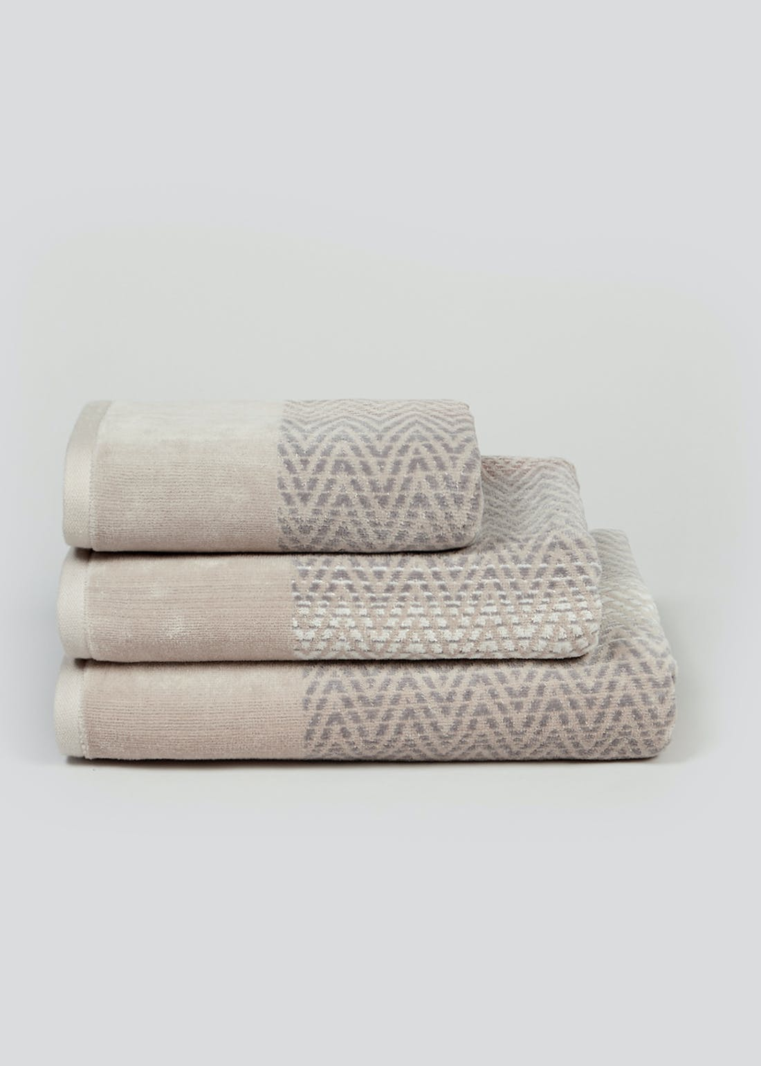 Chevron Velour Towels