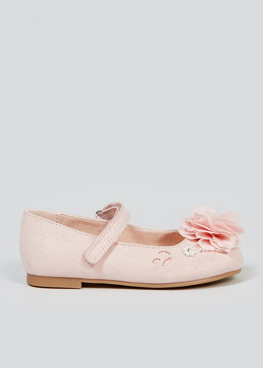 Girls Pink Occasion Ballet Shoes (Younger 4-9)