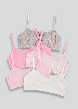 Girls 5 Pack Floral Crop Tops (4-13yrs)