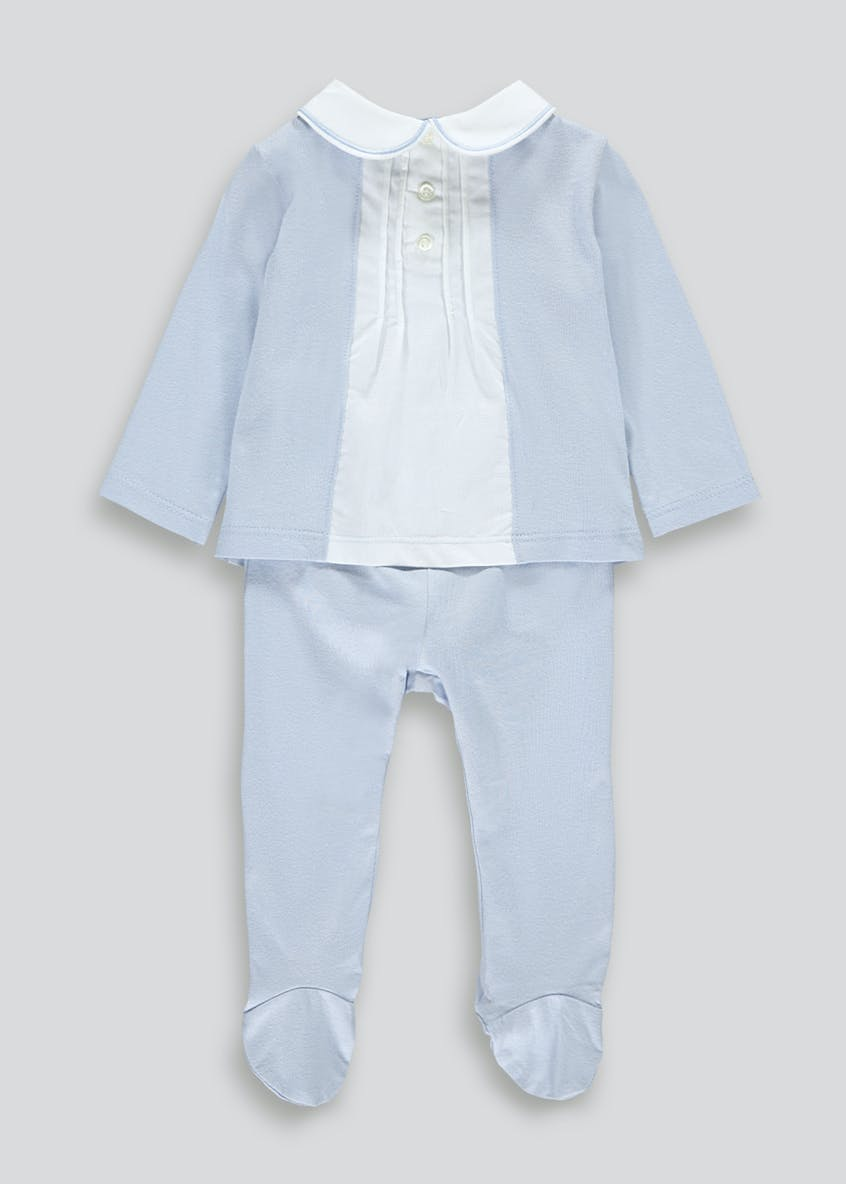 Boys Traditional Jersey Romper Set (Tiny Baby-23mths)