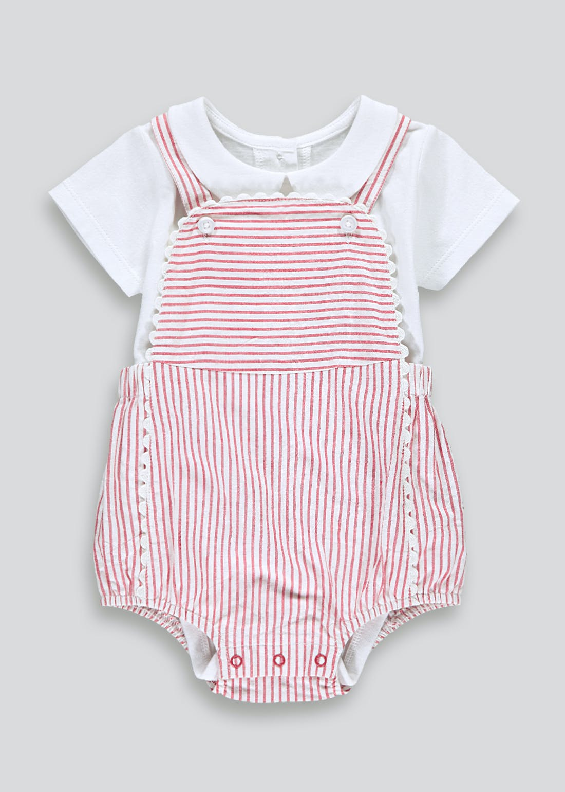 Girls Striped Romper & Bodysuit (Newborn-23mths)