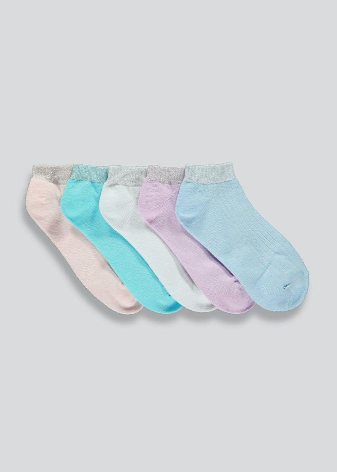 Girls 5 Pack Trainer Socks (Younger 6-Older 5.5)