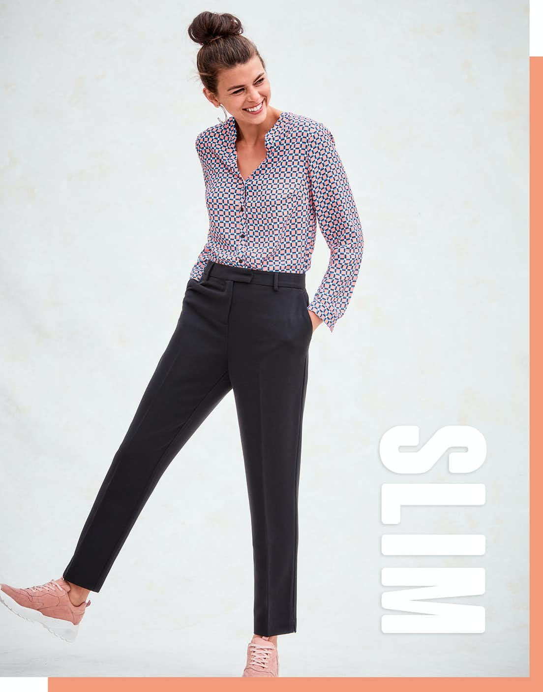 Shop slim fit trousers