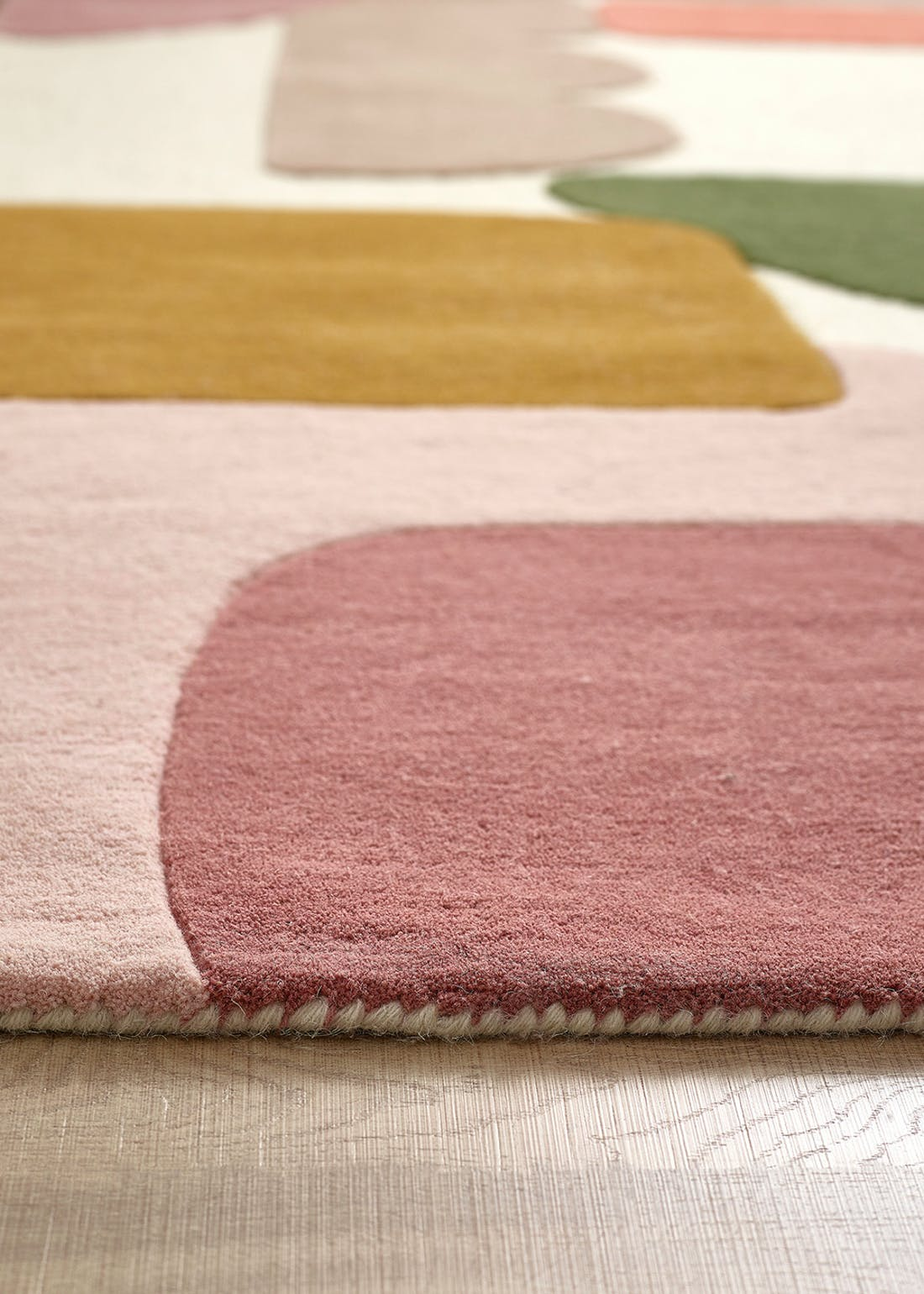 Abstract Colour Block Wool Rug