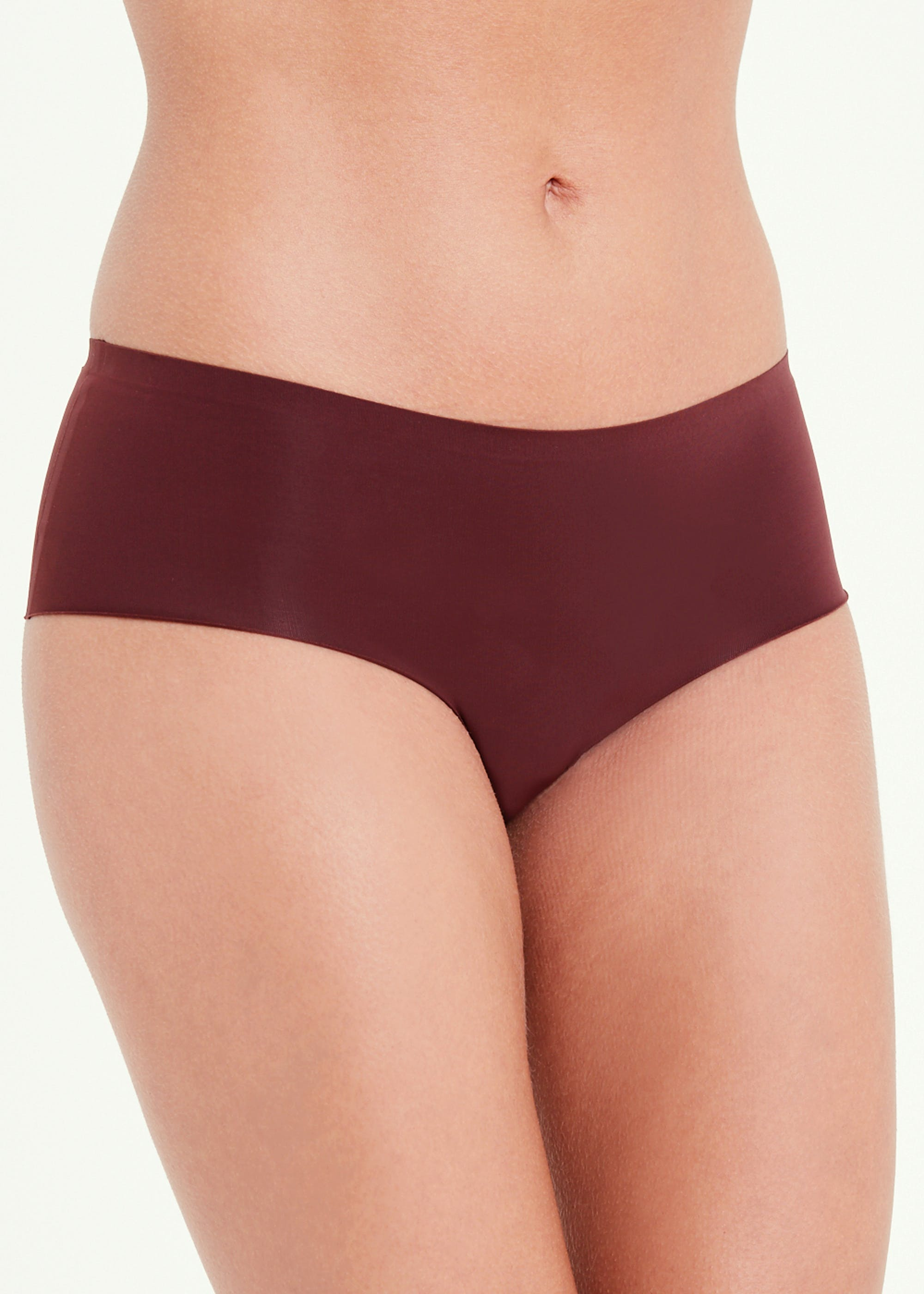 3 Pack No VPL Microfibre Short Knickers Chocolate L99rxd