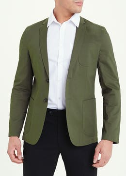 Taylor & Wright Khaki Slim Fit Blazer