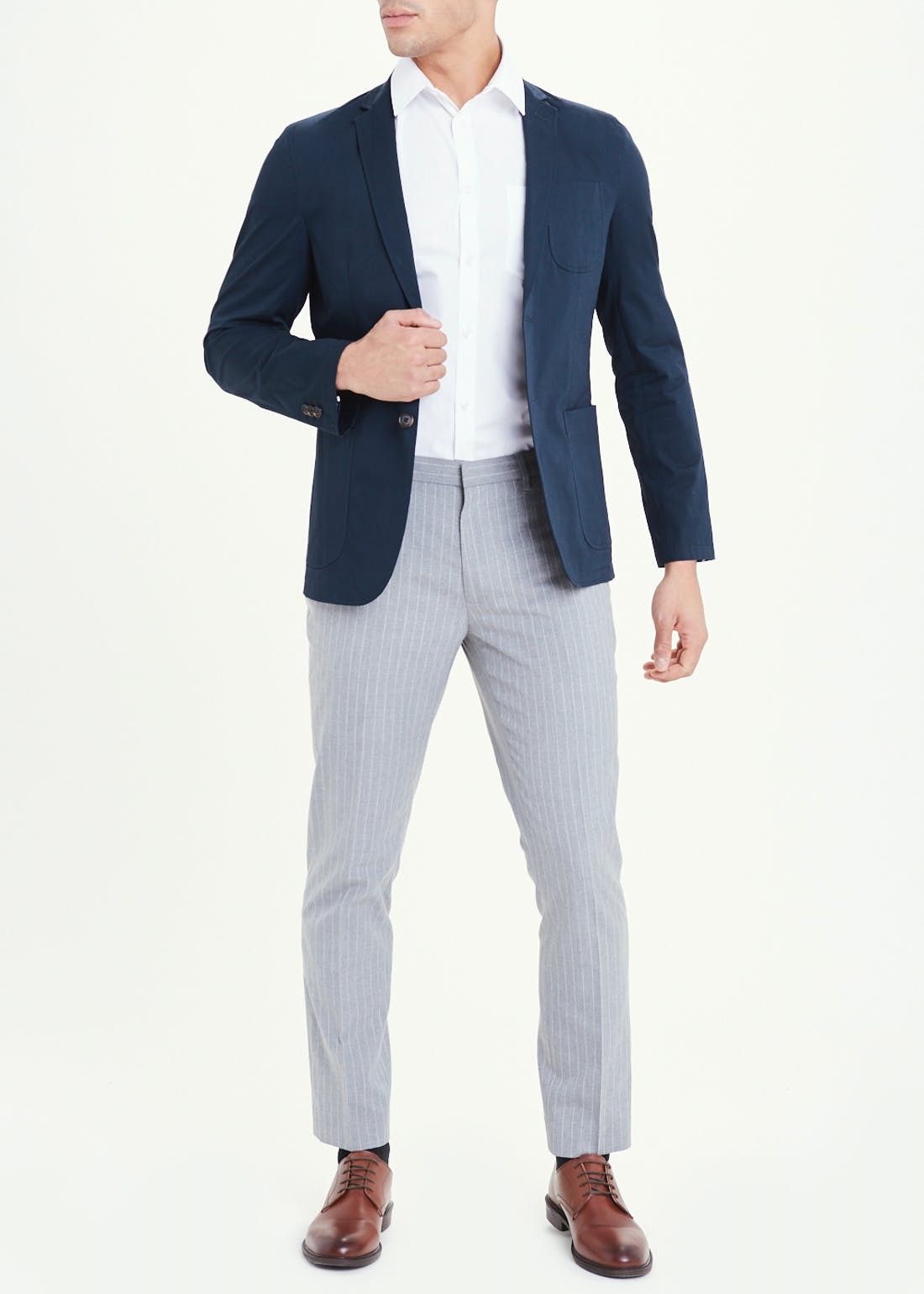 Taylor & Wright Navy Slim Fit Blazer