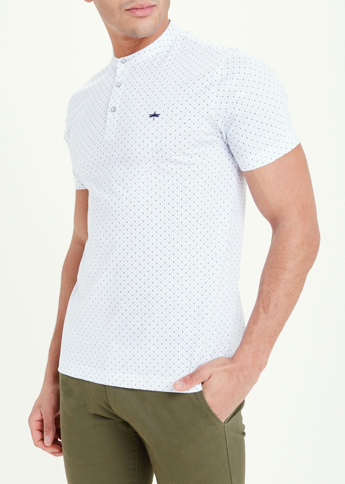 Big & Tall Short Sleeve Henley Collar Polo Shirt