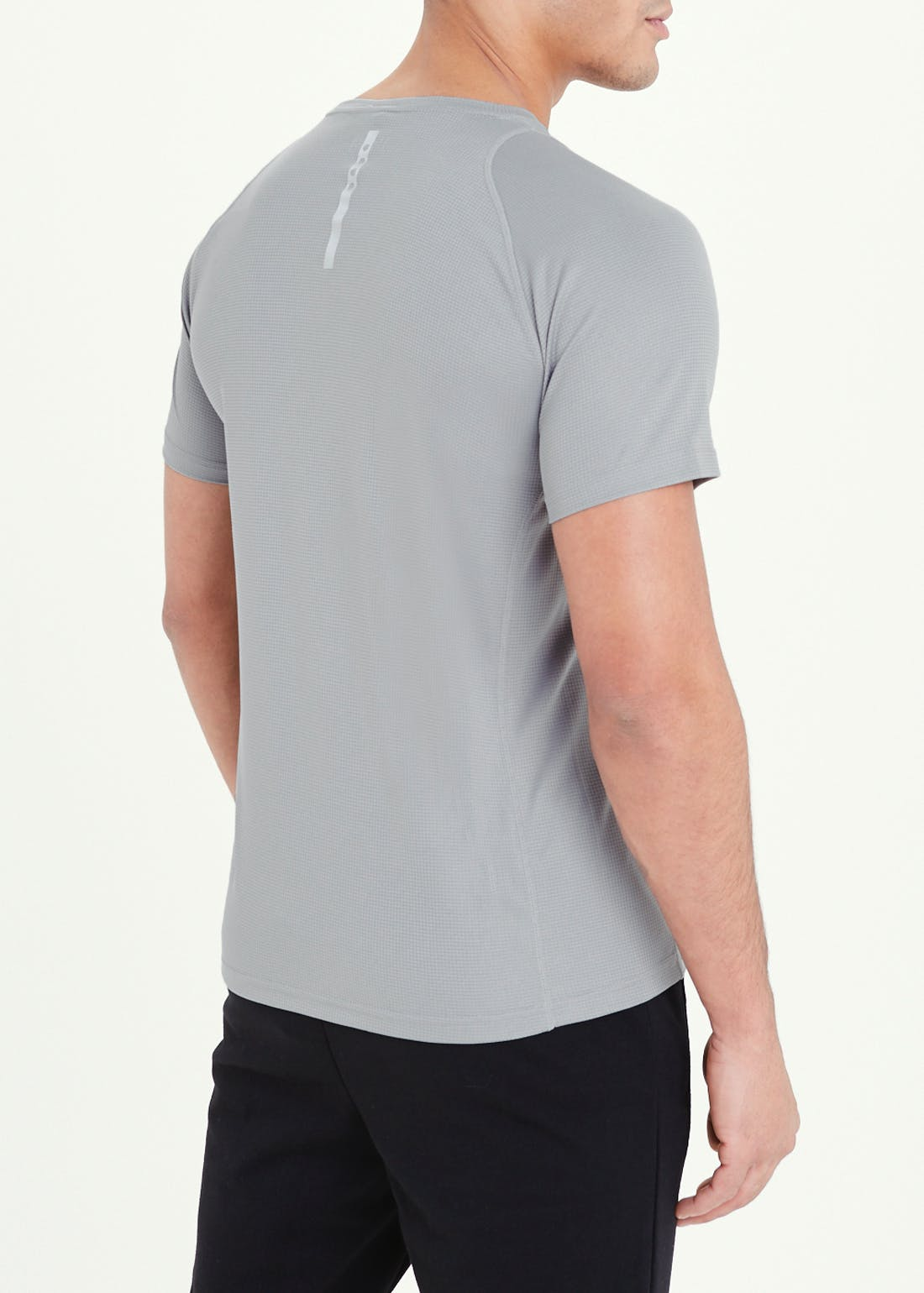 Souluxe Grey Textured Basic Gym Top