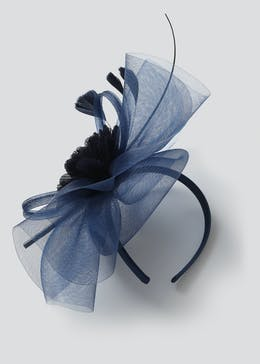 Crinkle Rose Loop Fascinator