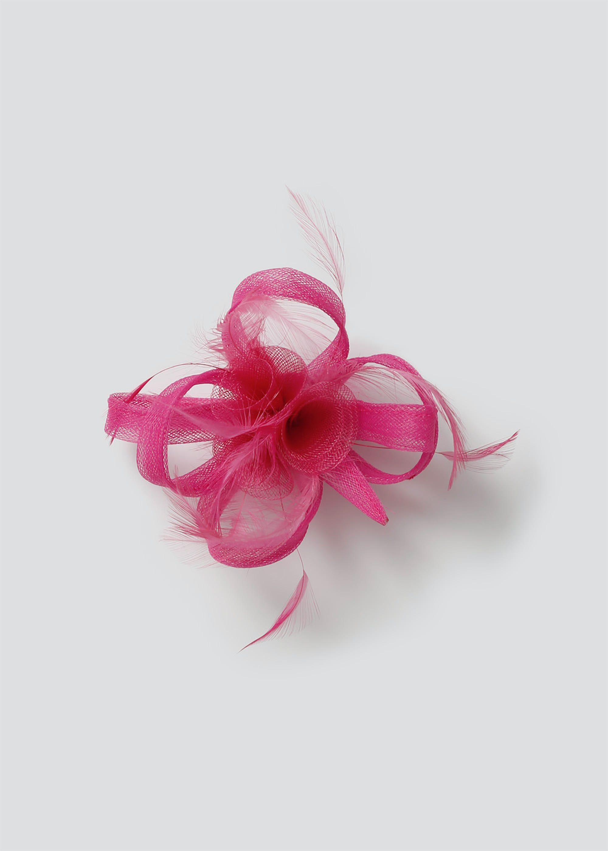 Loop Feather Fascinator Clip Fuchsia Xg9NQU