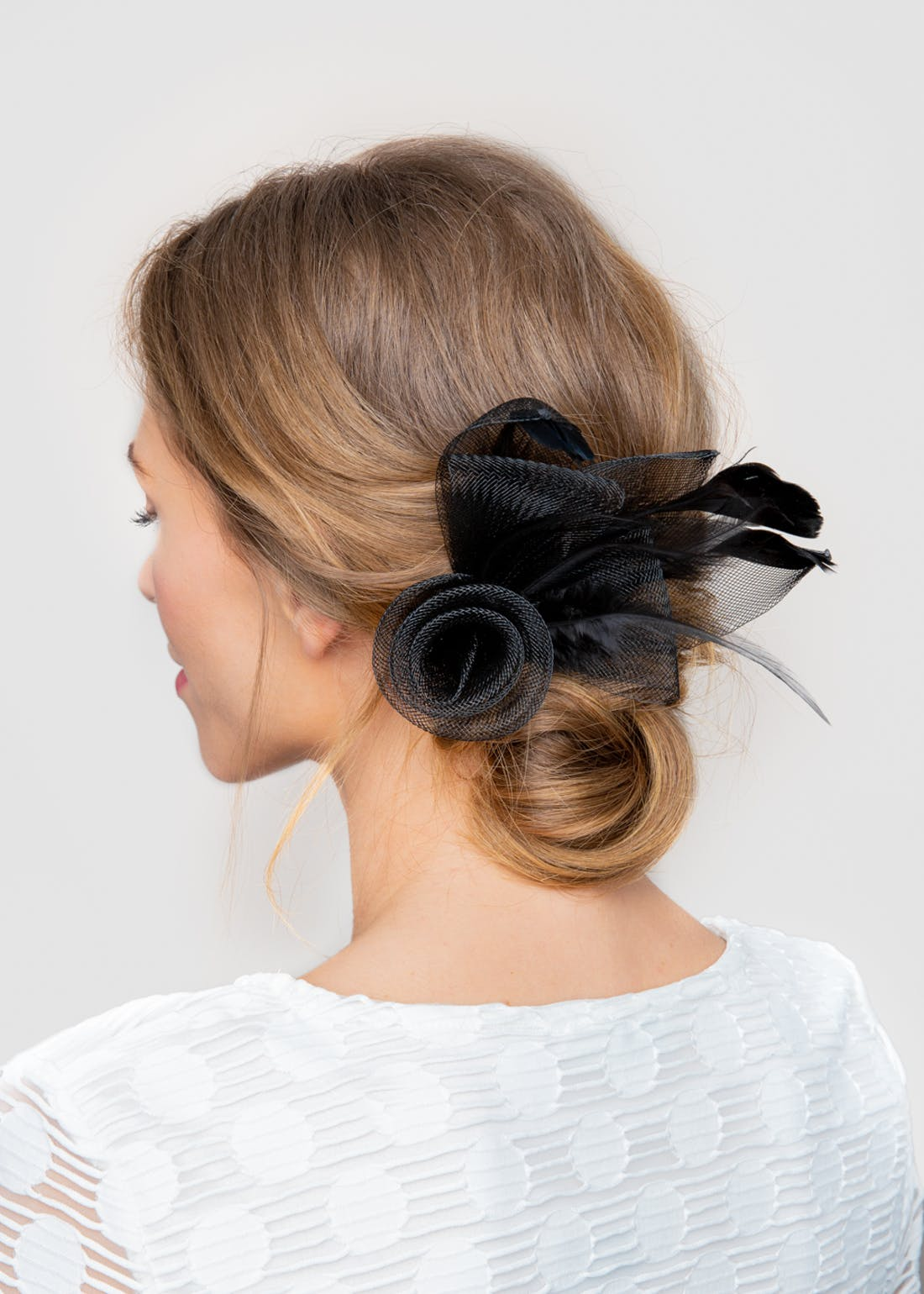 Rose Loop Petal Fascinator Clip