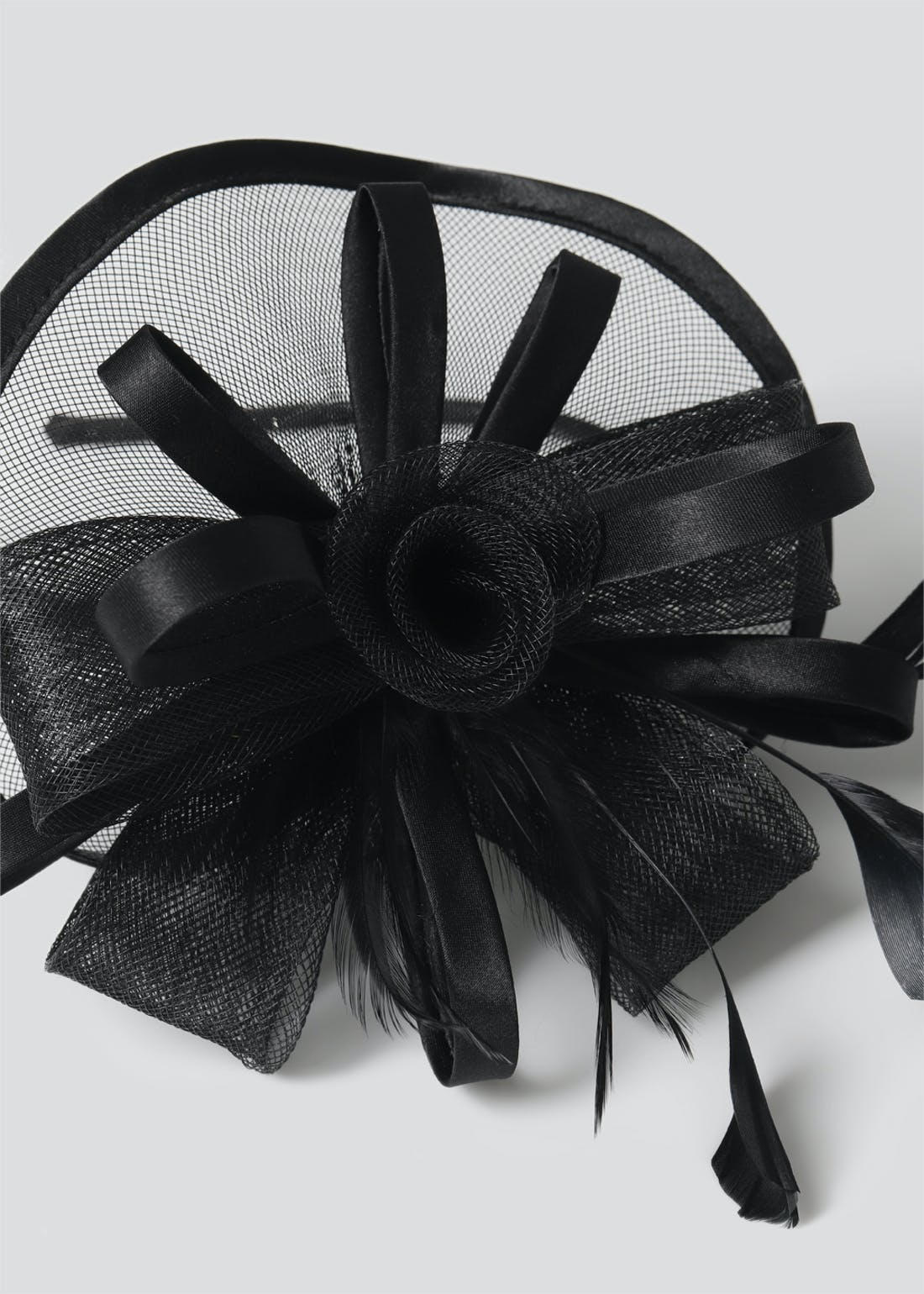 Rose Satin Fascinator Headband