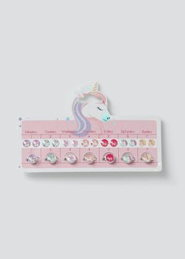Girls Unicorn Ring and Sticker Earring Set