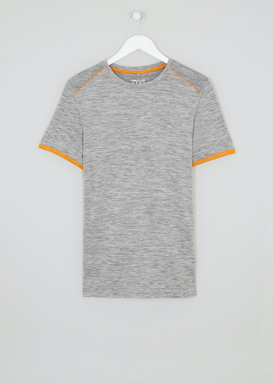 Souluxe Grey Tipped Gym Top