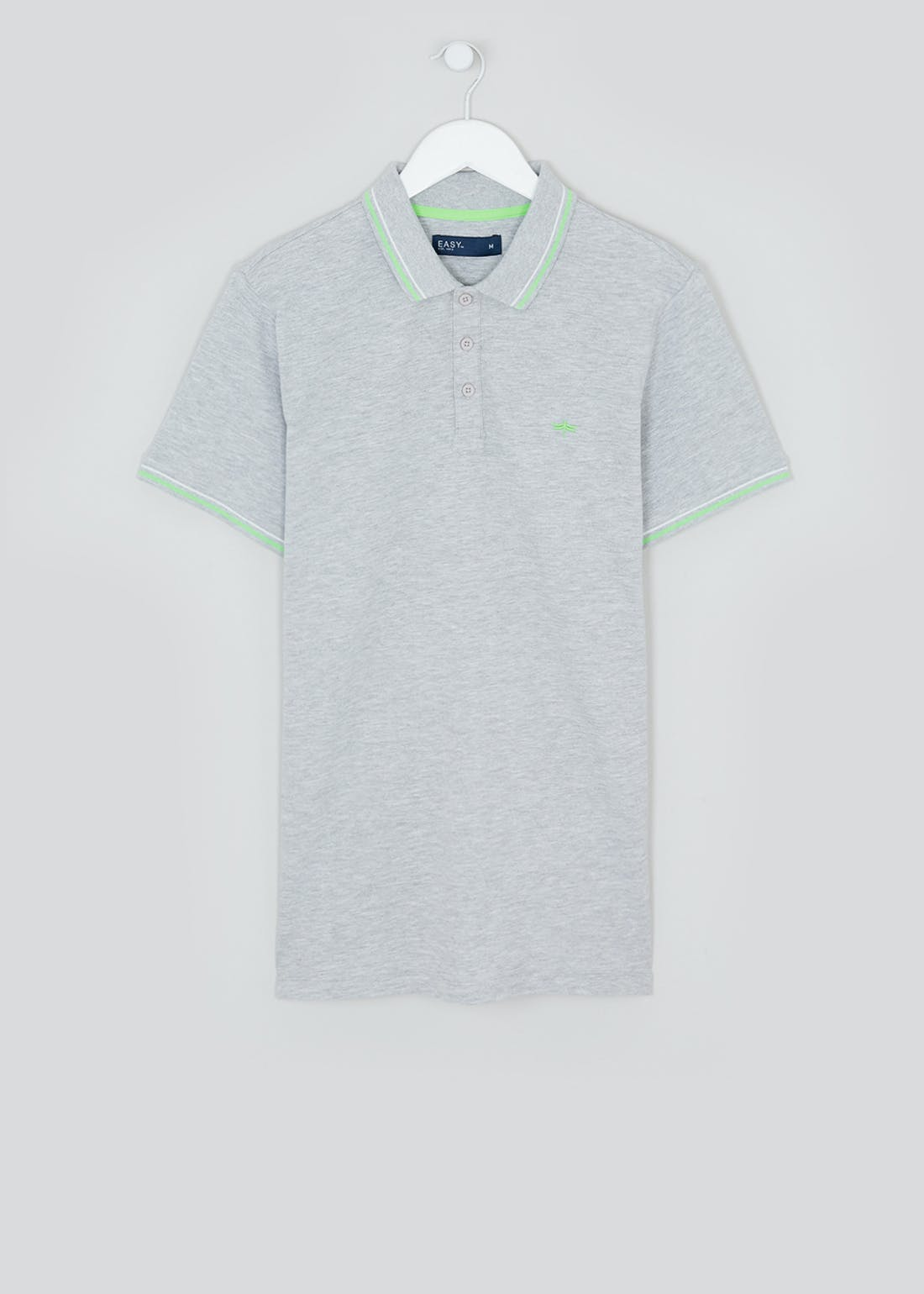 Neon Tipped Polo Shirt