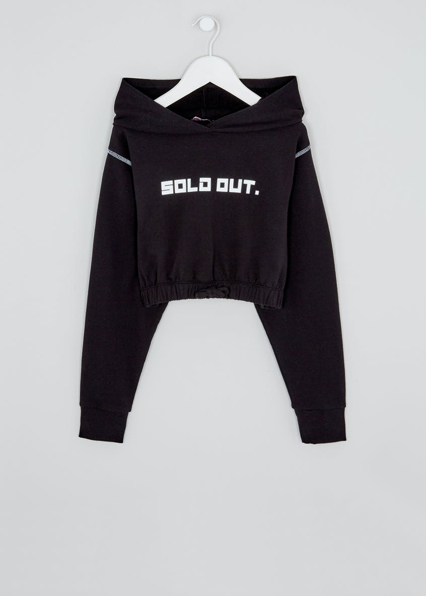 Girls Candy Couture X Sold Out Cropped Hoodie (9-16yrs)